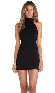 SOLACE London Anther Mini Dress in Black