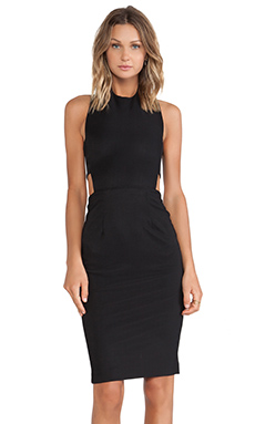 SOLACE London Franklin Mini Dress in Black