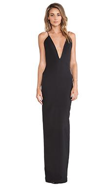 SOLACE London Murphy Maxi Dress in Black