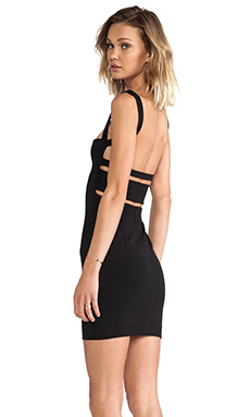 SOLACE London Mondino Mini Dress in Black