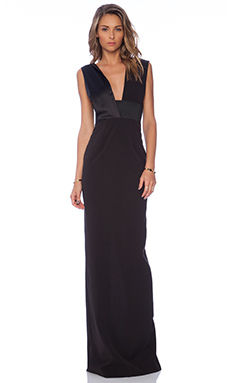 SOLACE London Verdon Maxi Dress in Black