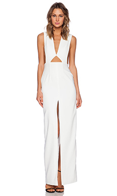 SOLACE London Holt Maxi Dress in White
