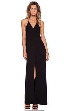 SOLACE London Fae Maxi Dress in Black