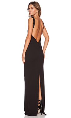 SOLACE London Lucio Maxi Dress in Black