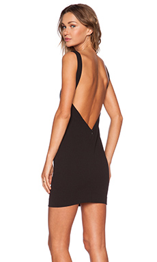 SOLACE London Rosa Mini Dress in Black