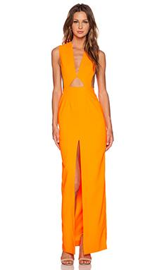 SOLACE London Holt Maxi Dress in Orange