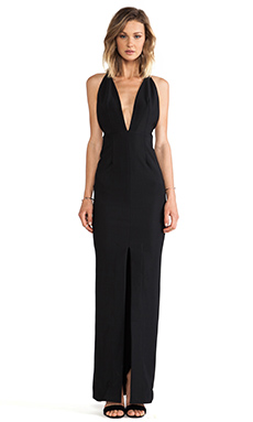 SOLACE London Revelation Maxi Dress in Black