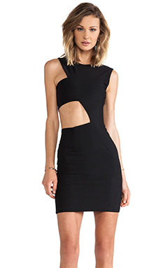 SOLACE London Mendes Mini Dress in Black