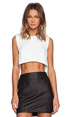 SOLACE London Ciri Top in White Waffle