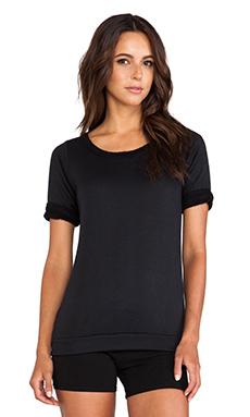 So Low Open Back Sweatshirt in Black