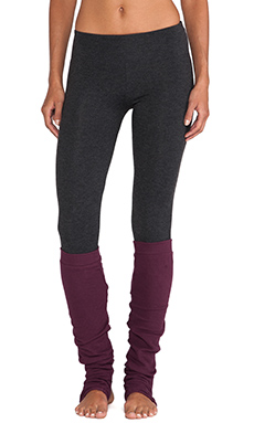 So Low Legging with Warmers in Heather Charcoal & Rouge