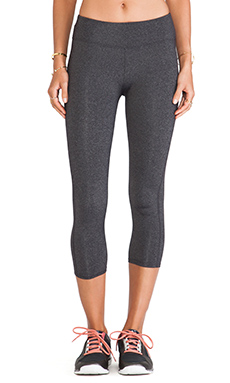 So Low High Impact Crop Legging in Heather Charcoal