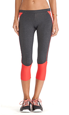 So Low Crop Legging in Heather Charcoal & Samba