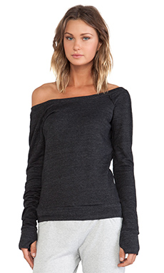 So Low Ballet Sweatshirt with Thumbholes in Black