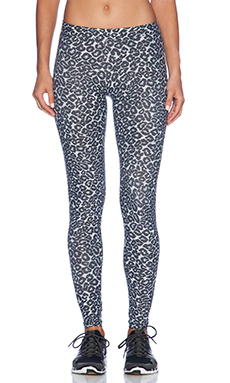 SOLOW Animal Print Legging in Grey Leopard