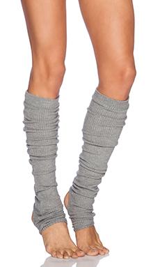 SOLOW Rib Leg Warmer in Heather Grey