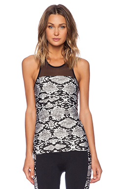 SOLOW Mesh Animal Print Cami in Snakeskin