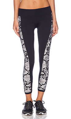 SOLOW Animal Print Panel Pant in Snakeskin