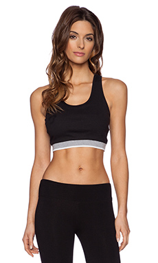 SOLOW Rib Crop Top in Black