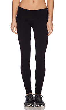 SOLOW Fold Over Legging in Black