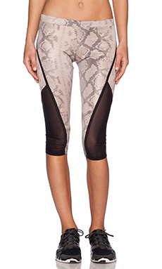 SOLOW Legging with Binding in Blush Snake Print