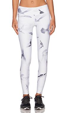 SOLOW Bird Print Legging in White & Black