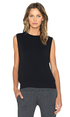 SOLOW French Terry Tank in Black
