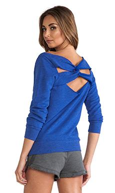 SOLOW Raw Edge Sweatshirt in Anchor