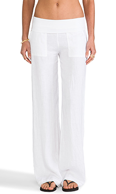 SOLOW Wide Leg Pant in White