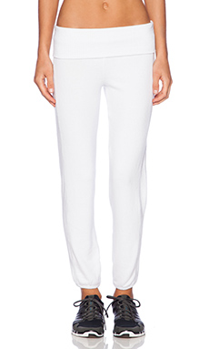SOLOW Old School Crop Sweatpant in White