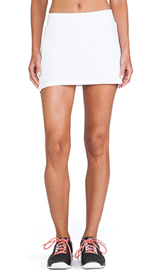 SOLOW Mesh Skort in White