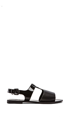 Sol Sana Lexia Sandal in Black Perforated