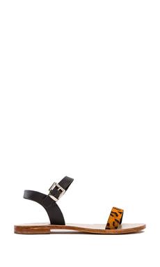 Sol Sana Rebel Sandal in Black & Orange Pony