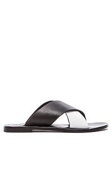 Sol Sana Kross Sandal in Black & White