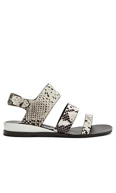 Sol Sana Clarissa Sandal in White & Black Python