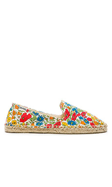 Soludos Field Day Floral Espadrille in Red Multi