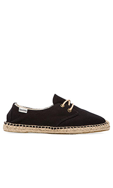 Soludos Canvas Derby Lace Up in Black