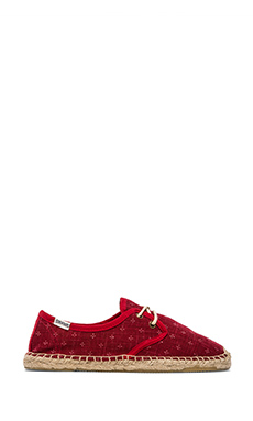 Soludos Lil' Crosses Derby Lace Up in Red