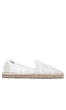 Soludos Original Chantilly Lace Loafer in White