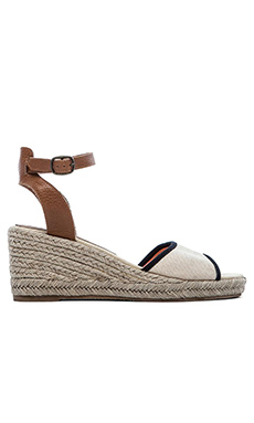 Soludos Wedge Sandal in Natural Black