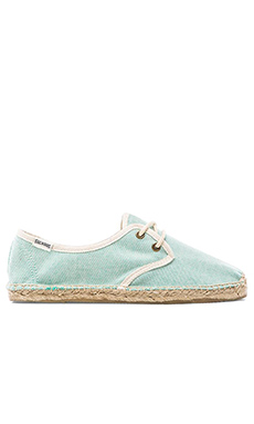 Soludos Linen Derby Lace up in Mint