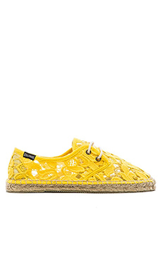 Soludos Tulip Lace Derby Lace Up in Yellow