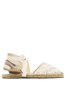 Soludos Classic Tulip Lace Sandal in Ivory