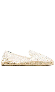 Soludos Tulip Lace Espadrille in Ivory