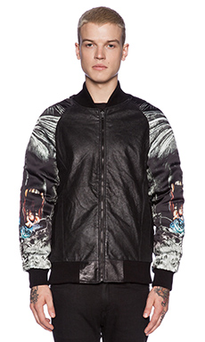 BLOUSON BOMBER JUNGLE SKULL