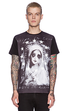 Sons of Heroes Damaged Goods Crying Mary Tee in Black