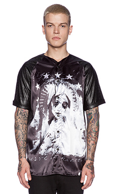 Sons of Heroes Damaged Goods Crying Mary Baseball Tee in Black