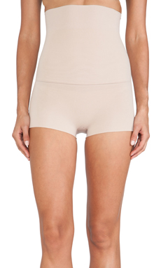 SPANX Haute Contour High-Waisted Shorty in Light Nude