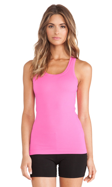 SPANX Ribbed Racerback Tank in Cheeky Pink