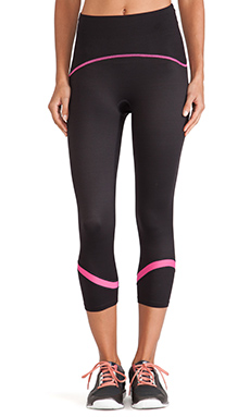 SPANX Shaping Compression Crop Legging in Black & Cheeky Pink